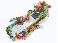Чехол для сотового телефона в цветах и растениях