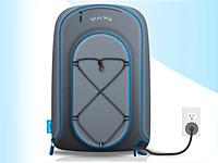 Удобный заплечный рюкзак превратился в электрическую зарядку