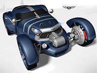 Bentley Dynamo современный концепт гоночного автомобиля прошлого