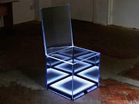 Пульсирующий светом стул манит в другие миры