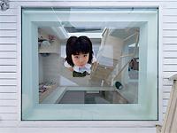 Японский дом из стекла лестниц и пространства