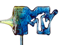 Цветные леденцы в форме логотипов