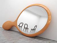 Иное восприятие зеркального отражения