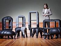 Пасущаяся кожаная мебель
