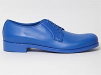 Модные синие ботинки