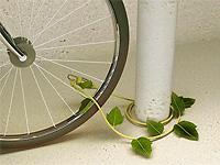 Велосипедный замок из листьев