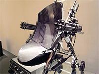 Металлическая детская коляска с пулемётами