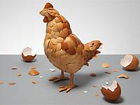 Курица из яичной скорлупы