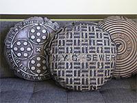 Необычная круглая подушка