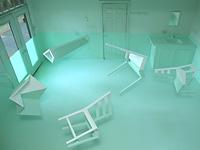 Инсталляция плавающей мебели