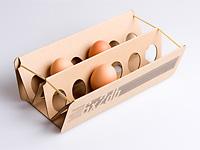 Складной контейнер на резинках для яиц
