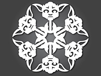 Бумажные снежинки для нового года