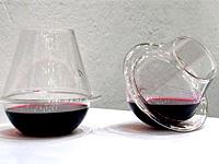 Дизайн бокал со стеклянной подставкой