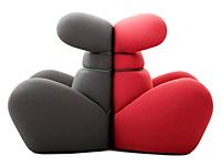 Мягкое ушастое кресло