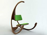 Интересное кресло качается и светит