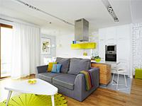 Светлое интерьерное решение квартиры