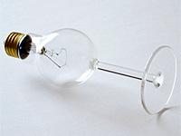 Креативная лампочка из бокала