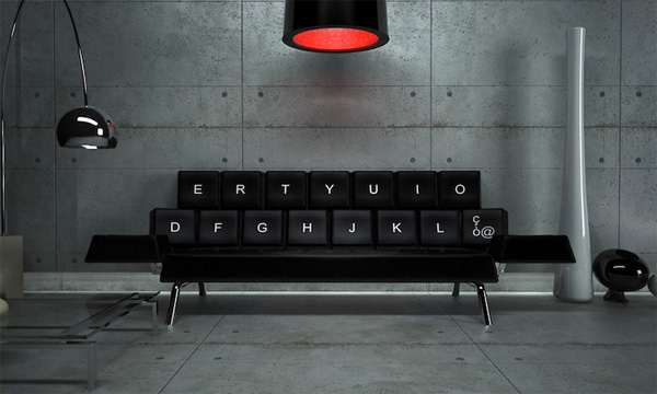 Клавиатурный диван фото