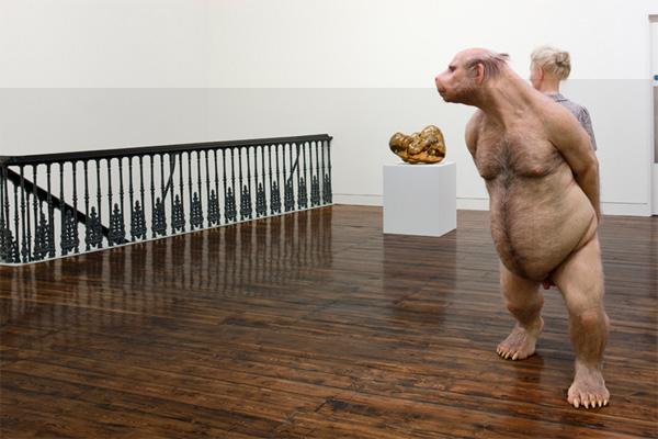 Творческая скульптура человека фото