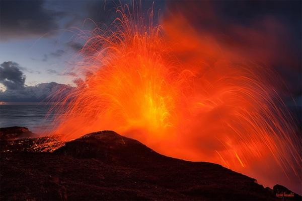 Гавайский вулкан фото