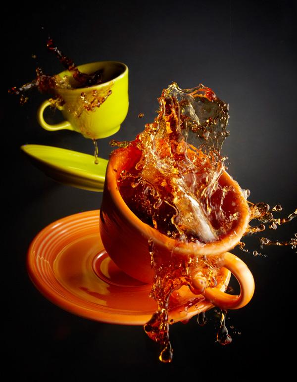 Оранжевая чашка фото