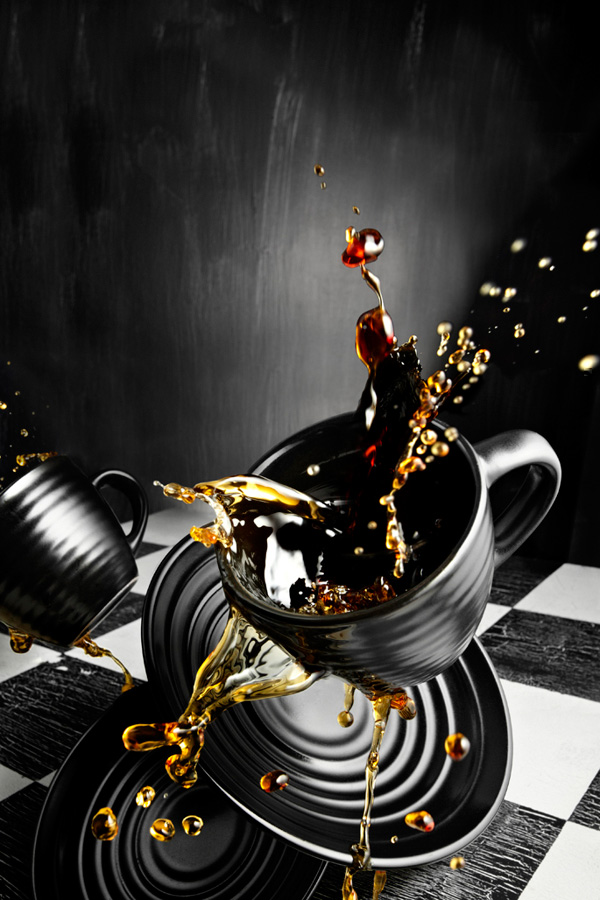 Черная чашка фото